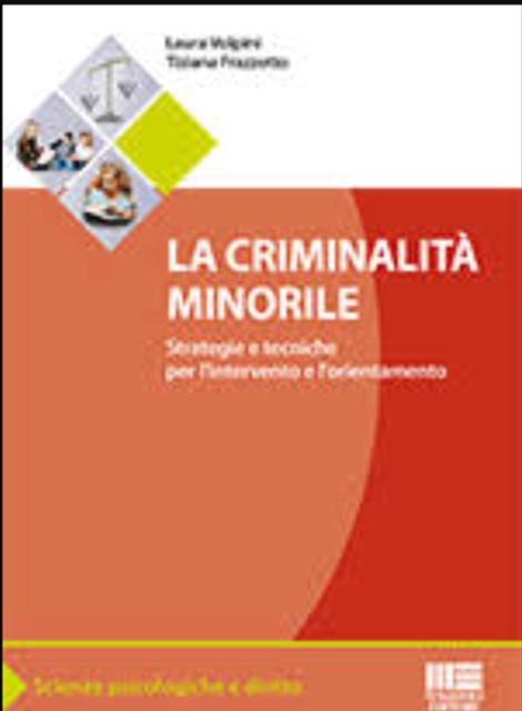 La criminalità minorile. Strategie e tecniche per l'intervento e l'orientamento