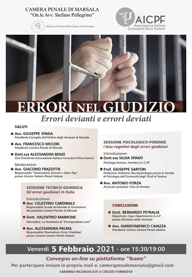 errori nel giudizio convegno online aicpf associazione italiana consulenti psico forensi